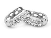 Brincos da joia - para mulheres - de aço inoxidável Fotos de Stock Royalty Free