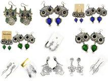Brincos da joia - para mulheres - de aço inoxidável Imagens de Stock Royalty Free