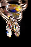 Brincos de cristal Imagens de Stock