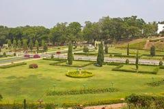 Brindaban trädgårdar nästan Mysore Arkivbild