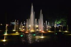 Brindavan庭院,迈索尔,卡纳塔克邦 库存照片