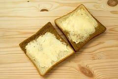 Brinde com manteiga Fotografia de Stock
