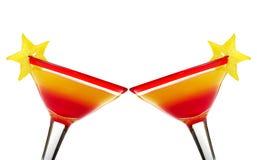 Brinde com nascer do sol do Tequila Fotografia de Stock