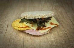 Brinde com omeleta do ovo Imagem de Stock Royalty Free