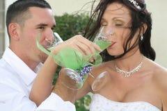 Brinde da noiva e do noivo imagens de stock royalty free