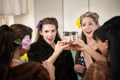 Brinde das mulheres Fotografia de Stock Royalty Free