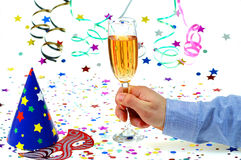 Brinde de Champagne Fotografia de Stock