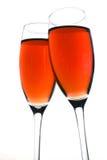Brinde do vinho de Rosa Fotos de Stock