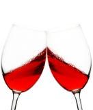 Brinde do vinho vermelho Foto de Stock