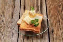 Brinde e manteiga imagens de stock royalty free