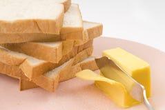 Brinde e manteiga Imagem de Stock Royalty Free