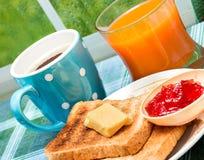 Brindes e tempo e manteiga da refeição dos meios do doce imagem de stock