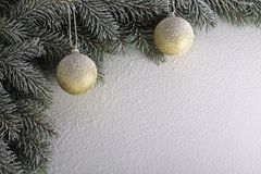 Brindille de Noël Image stock