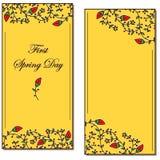 Brindilles et carte postale de feuilles Photo stock