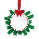 Brindilles rouges de vert de ruban de babiole de livre blanc Image libre de droits