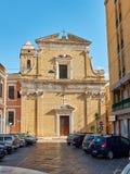 Chiesa Santa Teresa church of Brindisi, Apulia, Italy. Royalty Free Stock Photography