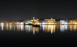 Brindisi por noche Imágenes de archivo libres de regalías