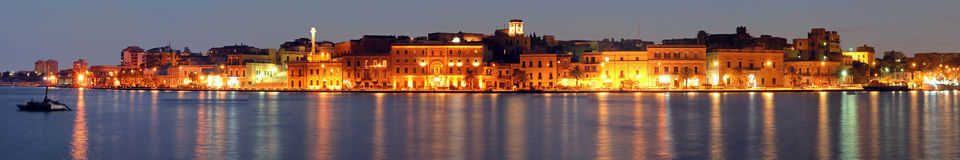 Brindisi skyline. A skyline from sea: Brindisi , Sud Italy Royalty Free Stock Images