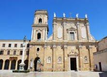 BRINDISI WŁOCHY, SIERPIEŃ, - 2, 2017: Brindisi katedra w piazza Duomo kwadracie, Brindisi, Apulia, Włochy Obraz Stock