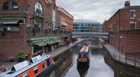 Brindley Place is a large mixed-use canalside developmen Royalty Free Stock Photo
