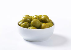 Brine-cured green olives Royalty Free Stock Photos
