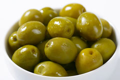 Brine-cured green olives Stock Image