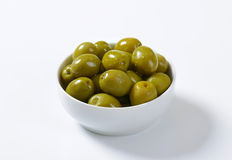 Brine-cured green olives Royalty Free Stock Photo