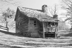 Brinegar Cabin – Blue Ridge Parkway Stock Photo