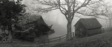 Brinegar Cabin. Along the Blue Ridge Parkway Stock Image