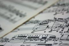 Bring Back The Music - Sheet Music Stock Image