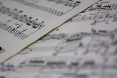 Bring Back The Music - Sheet Music Royalty Free Stock Photo