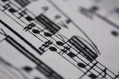 Bring Back The Music - Sheet Music Royalty Free Stock Images