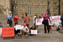 Bring back our girls rally in Ottawa. People gather for a rally to activate governments to rescue the girls in Nigeria and protect school girls across the world Stock Photo