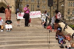 Bring back our girls rally in Ottawa Royalty Free Stock Photography