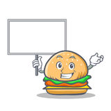 Bring board burger character fast food Royalty Free Stock Photography