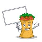 Bring board kebab wrap character cartoon. Vector illustration vector illustration