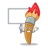 Bring board paint brush character cartoon Stock Images