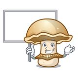 Bring board portobello mushroom character cartoon Royalty Free Stock Images