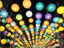 Colourful lamp Stock Image