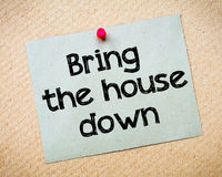Bring the house down Royalty Free Stock Photos