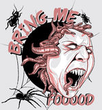 Bring me food. Illustration design available in vector format Royalty Free Stock Photography