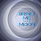 Bring me to the moon.  Lettering  on  blue  background. Royalty Free Stock Photos
