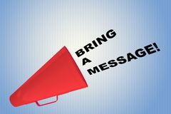 Bring a Message concept Stock Photos