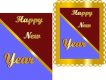 Bring the new year in, with celebrations.. Happy New Years , with bright colours and text Royalty Free Stock Photography