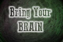 Bring Your Brain Concept Royalty Free Stock Photo