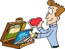 Bring your heart to work with you. stock illustration