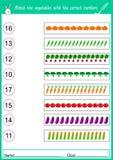 bringen Sie das Gemüse mit den korrekten Zahlen zusammen Lizenzfreie Stockfotos