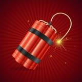 Bringen Sie Dynamit-Bombe zur Detonation Vektor lizenzfreie abbildung