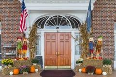 Bringen Sie in Luray Virginia unter, der ganz für Halloween vorbereitet wird Lizenzfreie Stockfotos