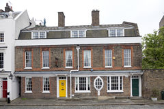 Bringen Sie mit Adressen-bankside 51 nahe bei Shakespeare-` s Kugel theat unter Stockbild